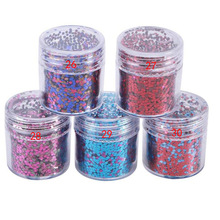 1Box Rose RED Blue Nail Glitter Mix Powder Sequins Nail Sparkles Shiny Makeup Glitter Dust Nail Art Chunky DIY Nails Glitter Set tct 077 christmas glitter white color with purple red light iridescent mix shape mix size for nail glitter makeup facepaint diy