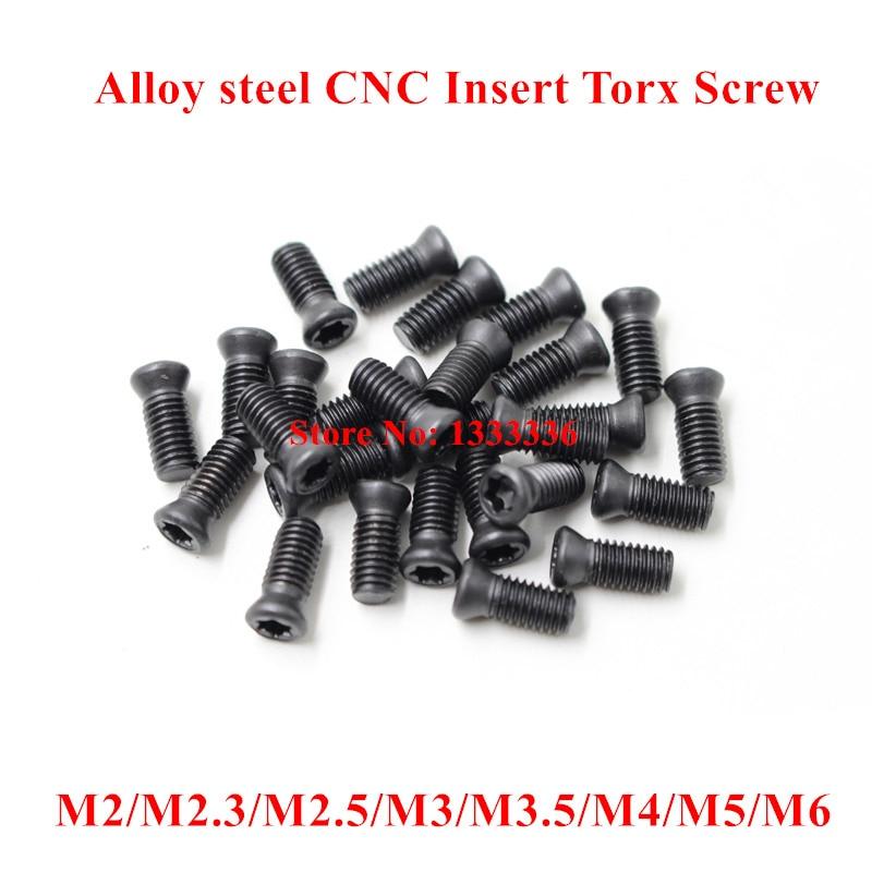 M2 x6 80pcs M2 x 5 M2.2 ×5, M2.2 x6,  Torx Screw for Carbide Inserts