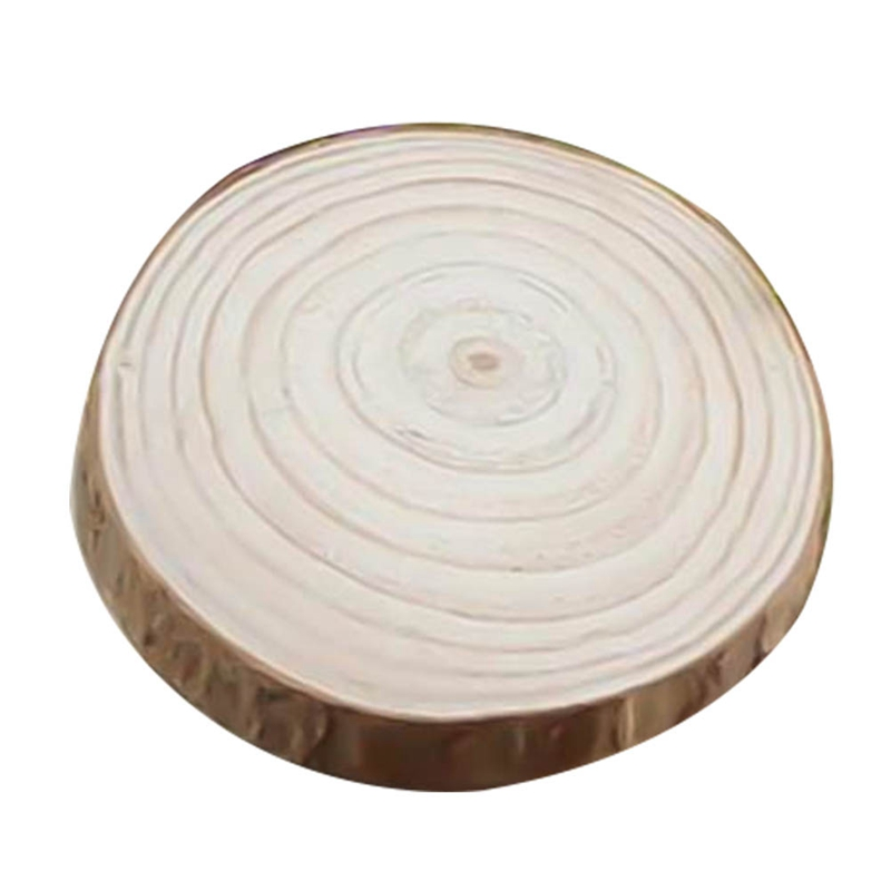 1pcs Decorative Natural Round Wood Slices Circles With Tree Bark Log Discs For DIY Crafts Wedding Party Painting Decoration