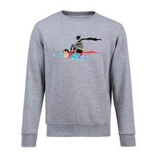 d5980e55ba741 Superhero Superman Batman pullovers Fleece impreso sudadera o-cuello Unisex  hoodies para hombres Hip Hop