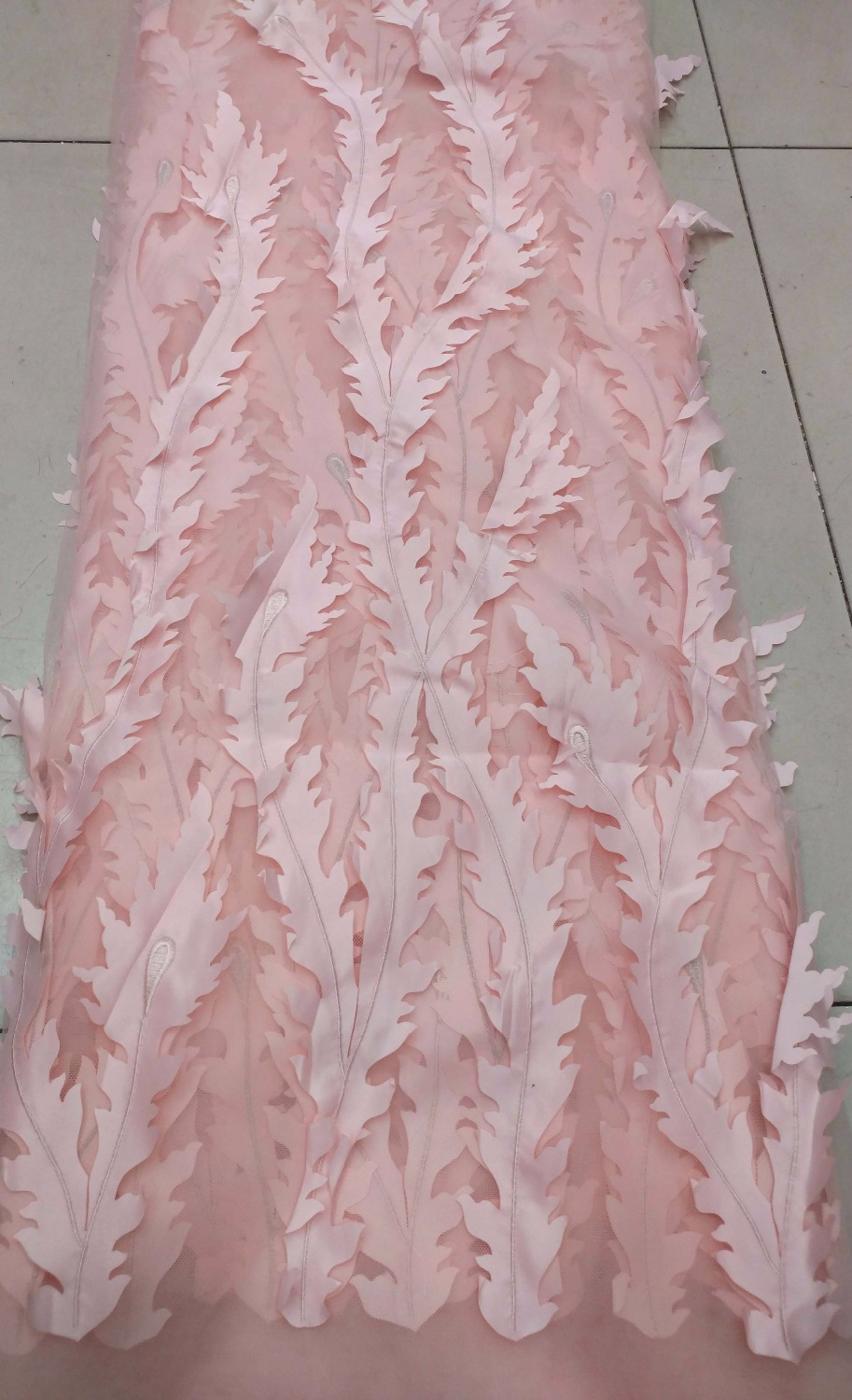 Pink Lace/lace appliques for wedding dresses French tulle lace for - Arts, Crafts and Sewing