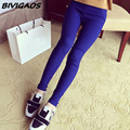 2016 New Fashion Multicolor High Elastic Woven Casual  Legging Fitness Clothing Slim Thin Skinny Leggings Pencil Pants For Women