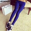 2016 Nueva Moda Multicolor de Alta Elástica Tejida Legging Ropa de la Aptitud Ocasional Delgado Flaco Leggings Lápiz Pantalones Para Las Mujeres