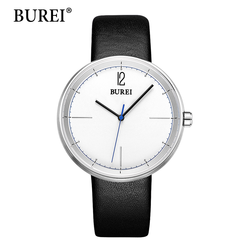 2017 New Top Brand Luxury Watches BUREI men Watch Genuine Leather Strap Casual Males Big Face clock Waterproof Wristwatches Hot 2017 burei men watches top brand fashion clock genuine leather strap casual saat erkekler watch waterproof wristwatches hot sale