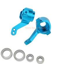 2pcs/lot HSP Upgarde Parts 02131 102011 Front Knuckle Steering Hub Carrier (L/R) For 1/10 RC Model Car Purple / Blue