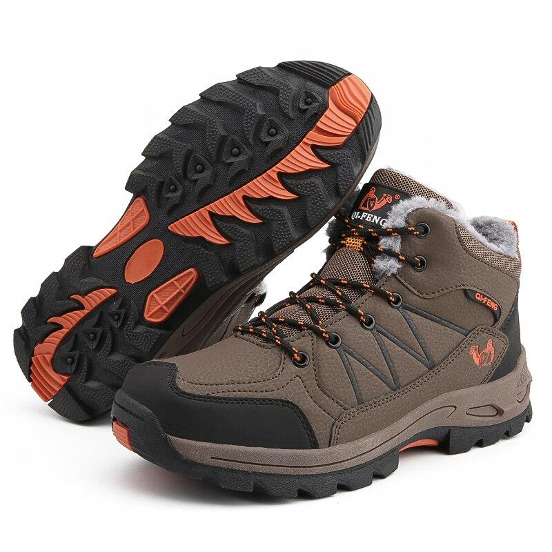 Großhandel ShangFanDeng Herren Winter Schnee Stiefel Ankle Outdoor Warme Pelz Futter Schuhe Pelz Schuhe Männer Stiefel Männer Mode Herren Von Keyhess,
