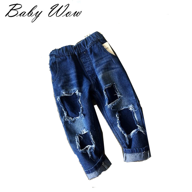 Ninos Ninas Ripped Jeans Para Ninos Ninas De Moda Para Bebes Nina Vaqueros Casuales Pantalones De Marca Para Ninos Pantalones Lyw 20750 En Pantalones Vaqueros De La Madre Y Los Ninos