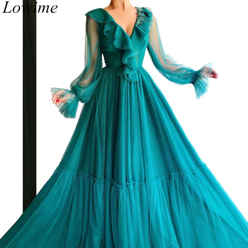 Robe De soirée formelle élégante fée arabe longue Tulle robes De Fiesta De Noche 2019 femmes robes De bal De mode Couture