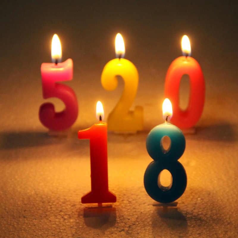 Лидер продаж, 1 шт., праздничный торт свечи-цифры для детей 0-9 лет, подарок ко Дню Святого Валентина