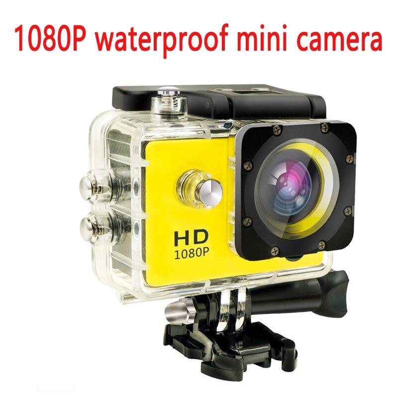 Étanche à l'eau Mini caméra Full HD 1080 P Action Sport caméscope extérieur style gopro go pro 2