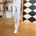 Nuevo 2016 Vintage hombres diseñador ocasional agujero rasgado Jeans para hombre moda flaco Slim Fit para hombre tamaño 27-34