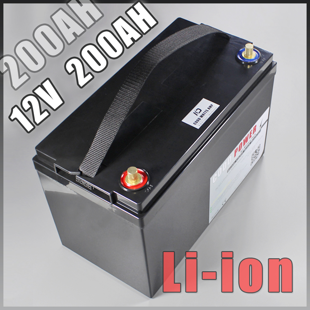 12V 200AH Lithium ion Battery Pack For UPS led lights Solar Golf Car batteries 100w folding solar panel solar battery charger for car boat caravan golf cart