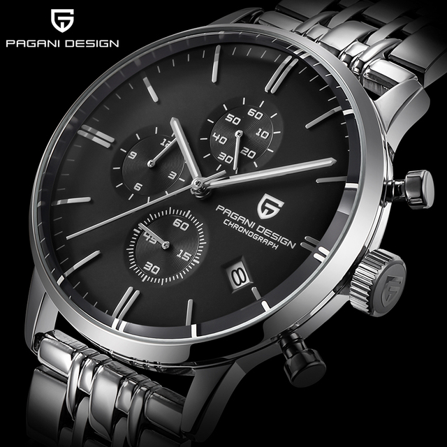 PAGANI DESIGN Brand Luxury Multifunction Men Watches stainless steel Fashion  Sport Military Quartz Watch Relogio Masculino 2020