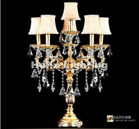 European Modern 6L D48cm E14 Candle Crystal Table Lamp Fashion Table Lamp Living Room Lamps Bedroom