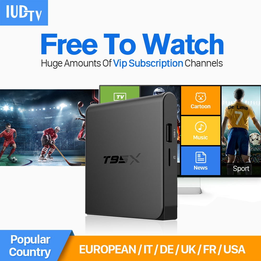Android 6.0 Smart Set-top TV Box 4K Quad Core WIFI TV IPTV Media Player with IUDTV IPTV Europe Arabic Sweden Belgium TV Box gotit cs918 android 4 4 tv box with 1year arabic royal iptv europe africa latino american iptv rk3128 media player smart tv box