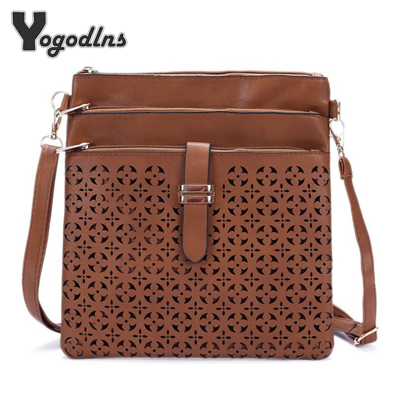 2018 Fashion Small Bag Women Messenger Bags Soft PU Leather Hollow Out Crossbody Bag For Women Clutches Bolsas Femininas Bolsa цена