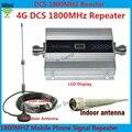 Display LCD! Mini DCS 1800 Mhz Mobile Phone Signal Booster, 4G Repetidor de Sinal DCS, Amplificador Telefone celular com Cabo + Antena