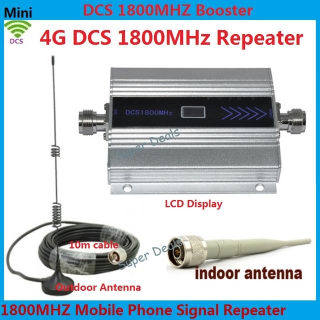Pantalla LCD! Mini DCS 1800 Mhz Teléfono Móvil Amplificador de Señal, 4G Repetidor de Señal DCS, Amplificador de Teléfono celular con Cable + Antenna