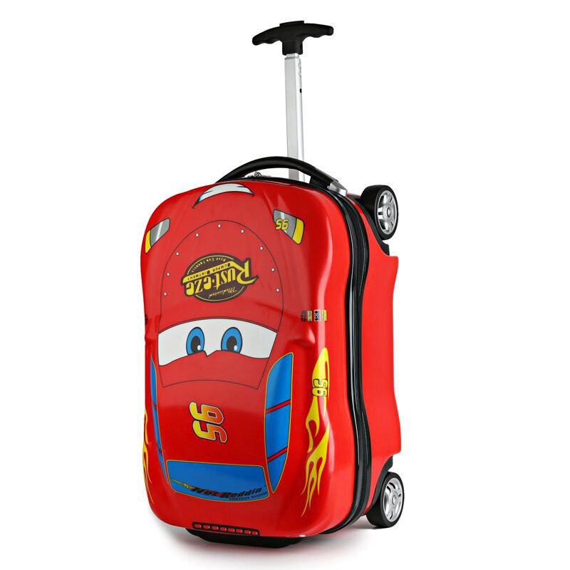"3D Supercar Child Boy Girl Toys Trolley 18"" Suitcase Luggage Bag Children's Schoolbag Wheel Suitcase Travel Children's Suitcase"