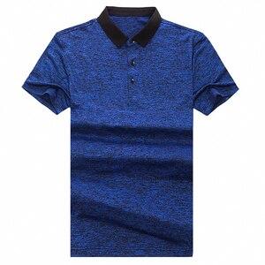 Image 4 - MIACAWOR polos de manga corta para hombre, camiseta lisa a la moda, ajustada, T748