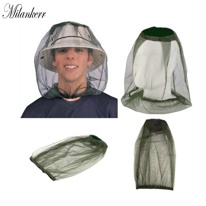 Milankerr Outdoor Fishing Cap Camping Anti Mosquito Hat Climbing Insect Bee Mesh Net Head Face Protector Hiking Hunting Accessor