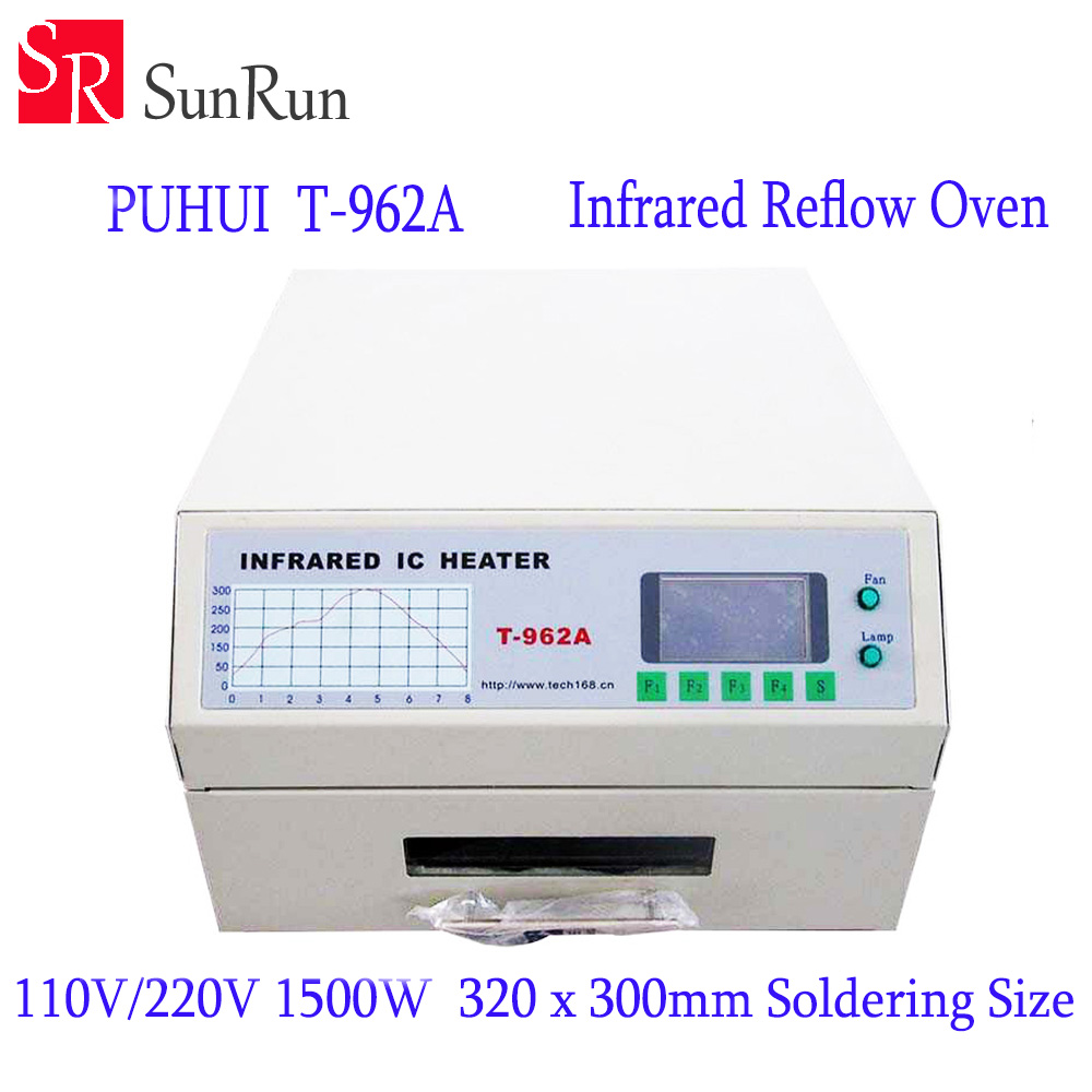 цена на New Arrival PUHUI T-962A Infrared IC Heater T962A Reflow Oven BGA SMD SMT Rework Sation T 962A Reflow Wave Oven