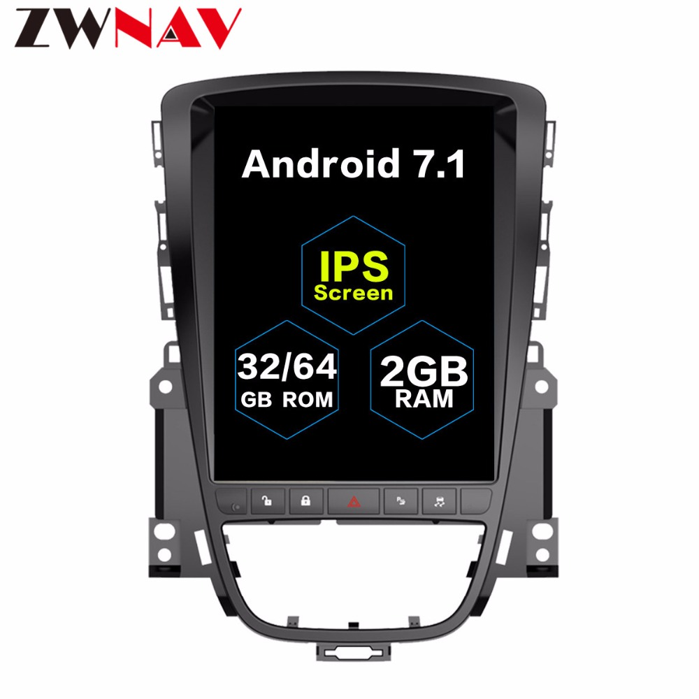 Tesla style 10.4 GRAND Écran Android 7.1 Voiture gps navigation Pour OPEL Vauxhall Holden Astra J 2010 2011 2012 2013 radio stéréo dvd