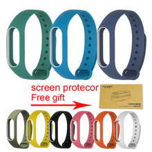 Xiaomi Mi Band 2 Bracelet Strap Miband 2 Colorful Strap Wristband Replacement Smart Band Accessories For Mi Band 2 Silicone(China)