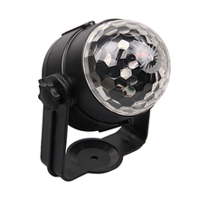 18W Mini LED USB Auto Rotation DJ Stage Light Bulb Party Disco Club Car Crystal Magic Ball Lamp