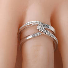 Huitan Infinity Cross X Shaped Ring For Women With Halo Micro Paved Birthday Gift Wholesale Lots&Bulk Size 6-10
