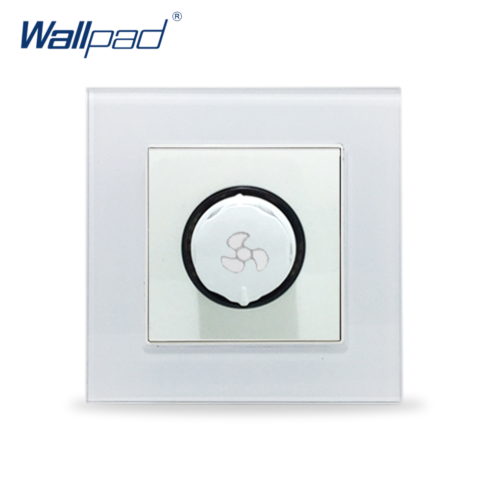 Fan Switch Wallpad Crystal Glass Panel 110V-250V Fan Speed Control Rotary Regulator Wall SwitchFan Switch Wallpad Crystal Glass Panel 110V-250V Fan Speed Control Rotary Regulator Wall Switch