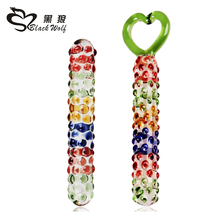 Heart shape ring Pyrex Glass Dildo Crystal fake penis anal butt plug prostate sex toys for women masturbation,dildo sex products