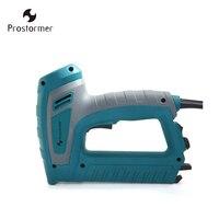 Prostormer 220V Electric Nailer Stapler For Furniture Staple Gun Frame with Staples & Nails Carpentry Woodworking Tools D30223