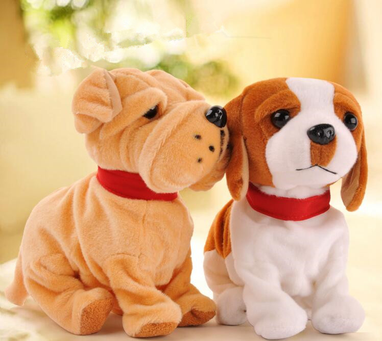 Cute!!! Electronic Pet Toys Funny Lovely Sound Control Electronic Pet Dog Brinquedos Toys For Children Birthday Gifts