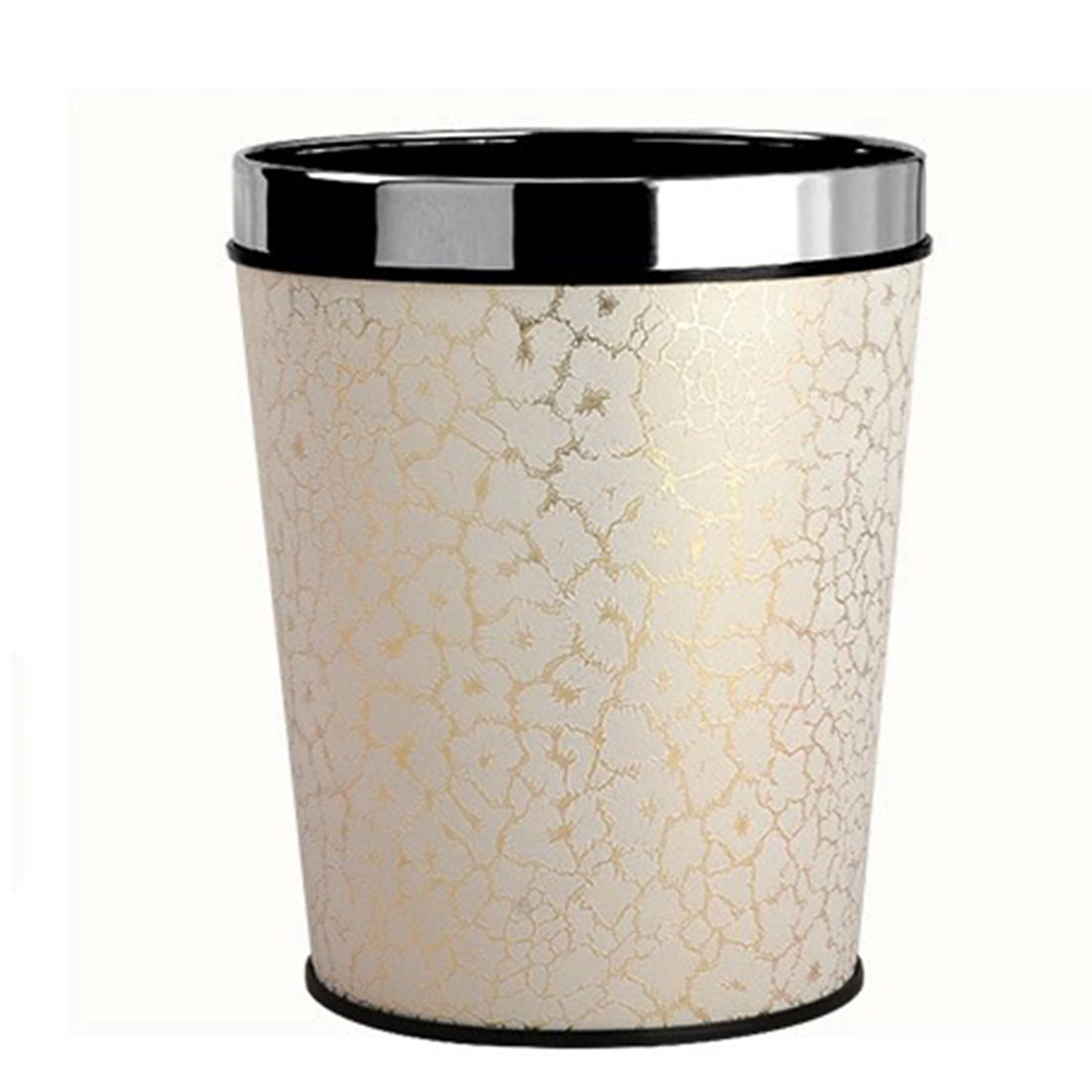 Superior 6L Detach A Ring Leather Covered Trash Can Thunder And Lightning Pattern  Garbage Can Dustbin Hotel Home Office Waste Basket