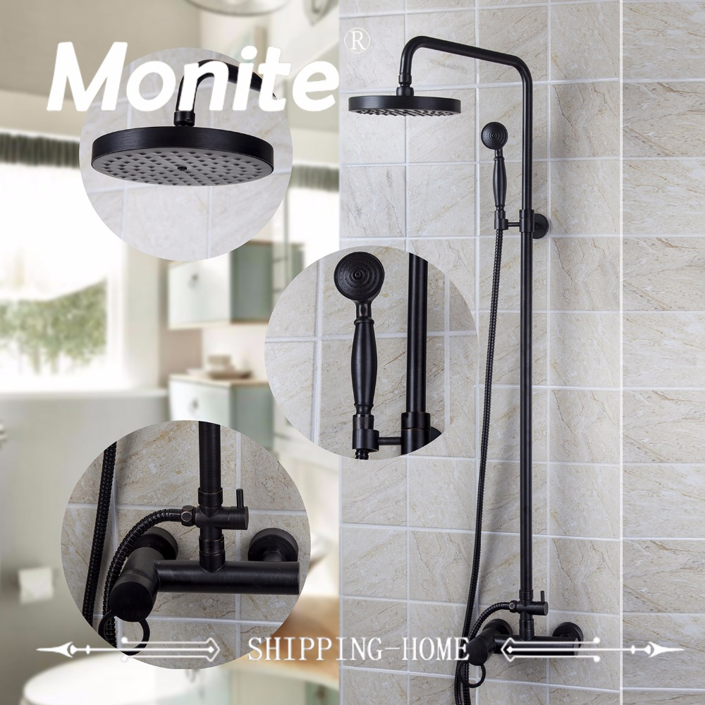 Best Price Bathroom Shower set Black Finished Rainfall Shower Mixer With the Hand Shower best price 1002 100 38 41 hand hydraulic carrier polyurethane wheel with aluminum center