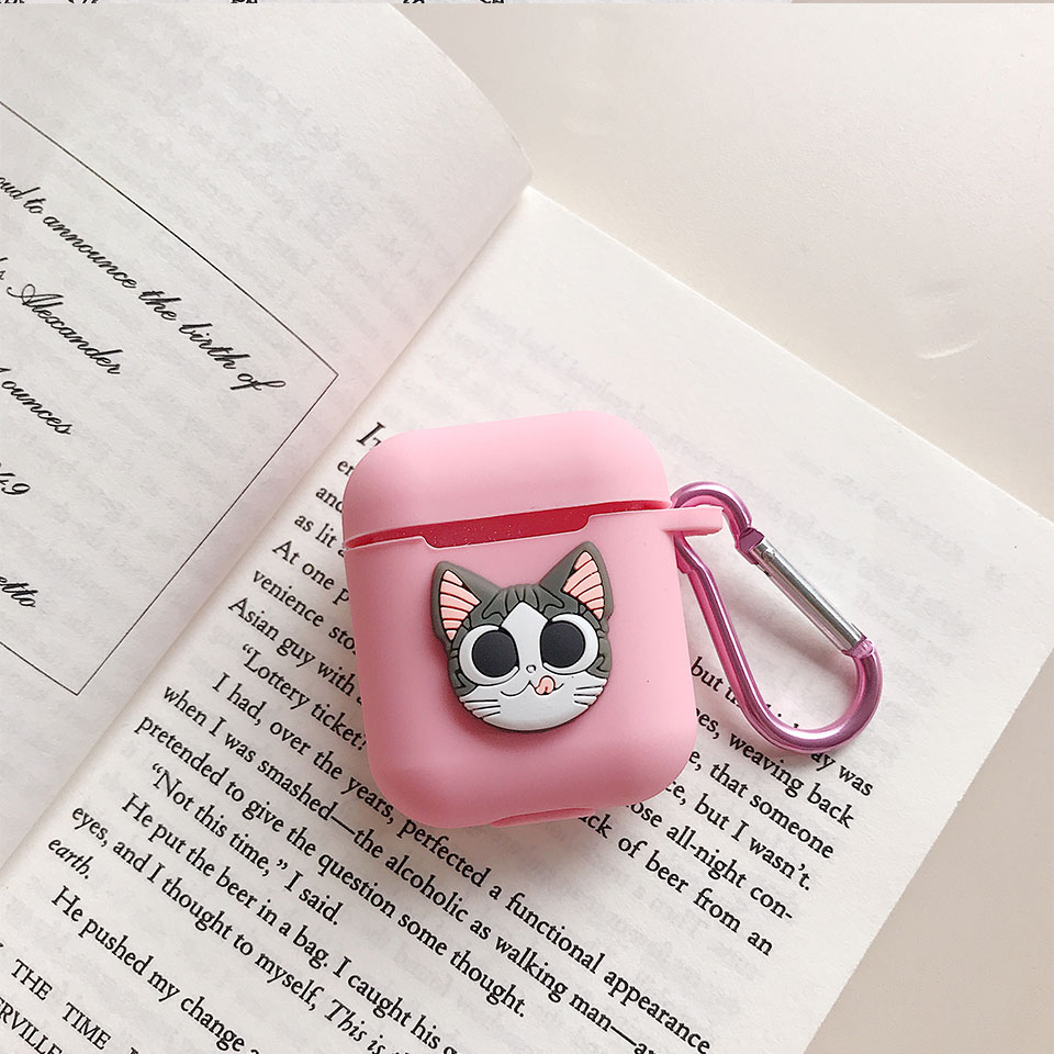 Image 4 - Hello Kitty Melody Mickey Minnie Sesame Street Egg Pattern Silicone Case For Apple Airpods Bluetooth Earphone Bag Cover-in Earphone Accessories from Consumer Electronics