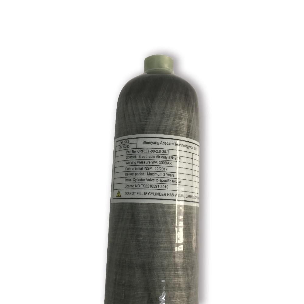 2018 продвижение новых продуктов 2L 30Mpa 4500psi углеродное волокно акваланг цилиндр воздуха PCP бутылки из Китая с EN12245-v ...