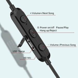 Image 5 - Langsdom L17 bezprzewodowe słuchawki Bluetooth 5.0 słuchawka do telefonu iPhone zestaw słuchawkowy magnes słuchawki douszne z mikrofonem Stereo Bluetooth słuchawki