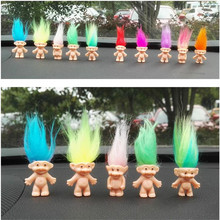 5Pcs/Set Colorful Hair PVC Troll Doll Family Members Daddy Mummy Baby Boy Girl Trolls Toy Anime Action Figure Juguetes Kids Toys