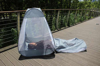 1*1.3M 1kg Automatic pop up indoor outdoor sit and lay tent meditation cross legged anti mosquito Buddhist yoga net Yurts
