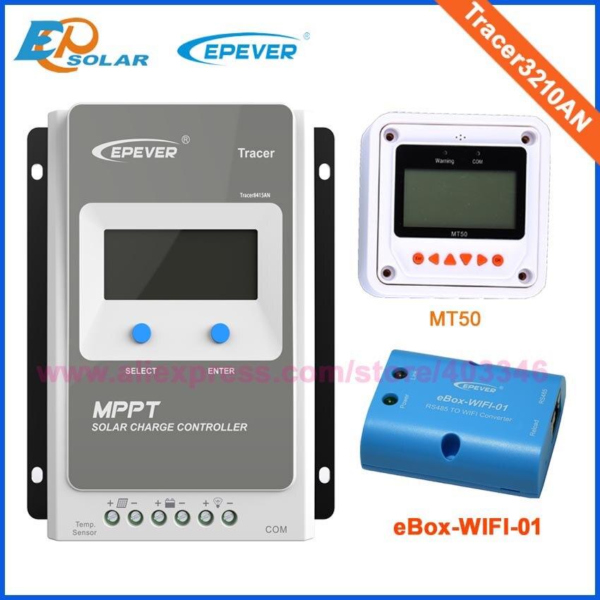 € 109 21 |Traceur 3210AN EPsloar 30A MPPT régulateur de Charge solaire 12 V  24 V LCD régulateur EPEVER avec câble de communication USB et capteur dans