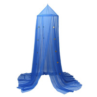 Children Room Dome Canopy Kids Play Tent Mosquito Net With Blue Stars Baby Kids Indoor Playing