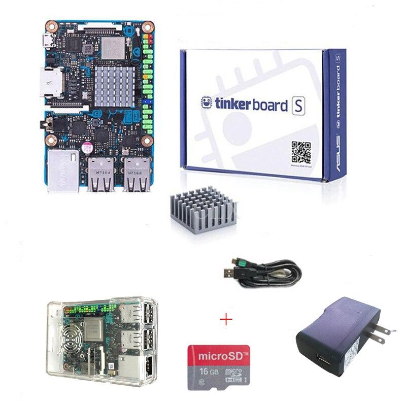 ASUS SBC Тинкер совета с RK3288 SoC 1,8 ГГц 4 ядра Процессор, 600 мГц Mali-T764 GPU 2 ГБ LPDDR3 и 16 ГБ eMMC tinkerboards Бесплатная доставка