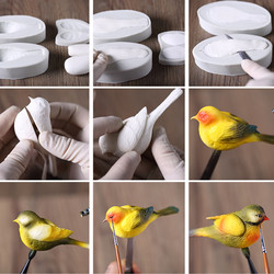 3D Bird Magpie Soap Mold Flexible Silicone Mold For Handmade Soap Candle Candy R0227