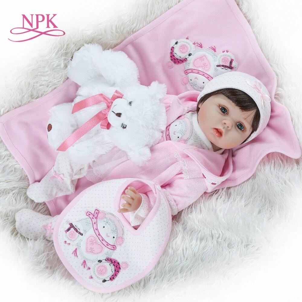 NPK 2019 nouveau design bébé fille Reborn poupées enfants jouet plein Silicone vinyle 22 ''50 cm vraie vie bébé Reborn vivant poupée