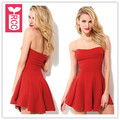 RCC Drop ship 2016 Red sexy Wrapped chest strapless party dress BUSTIER off shoulder slim waist dress