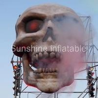 Наиболее популярные Хеллоуина гигантские надувные головки черепа Ужасы Скелет висит маска для клуба вечерние show