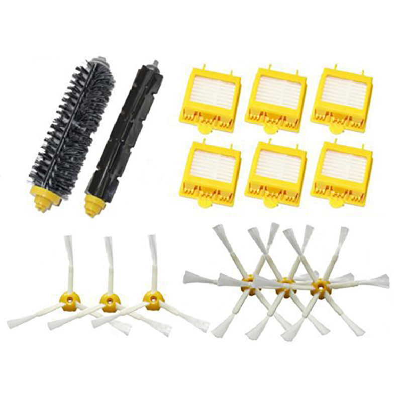 Hepa Filters Bristle Brush Flexible Beater Brush 3-Armed 6-Armed Side Brush Set For iRobot Roomba 700 Series 760 770 780 790 new brush 4 x filter 3 armed side kit for i robot roomba 700 series 760 770 780