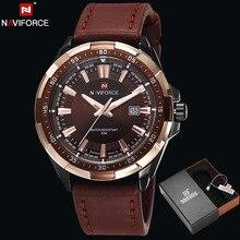 NAVIFORCE Original Marca de Moda de Los Hombres reloj de Cuarzo Reloj de Los Hombres reloj de Pulsera Impermeable Militar Reloj relogio masculino